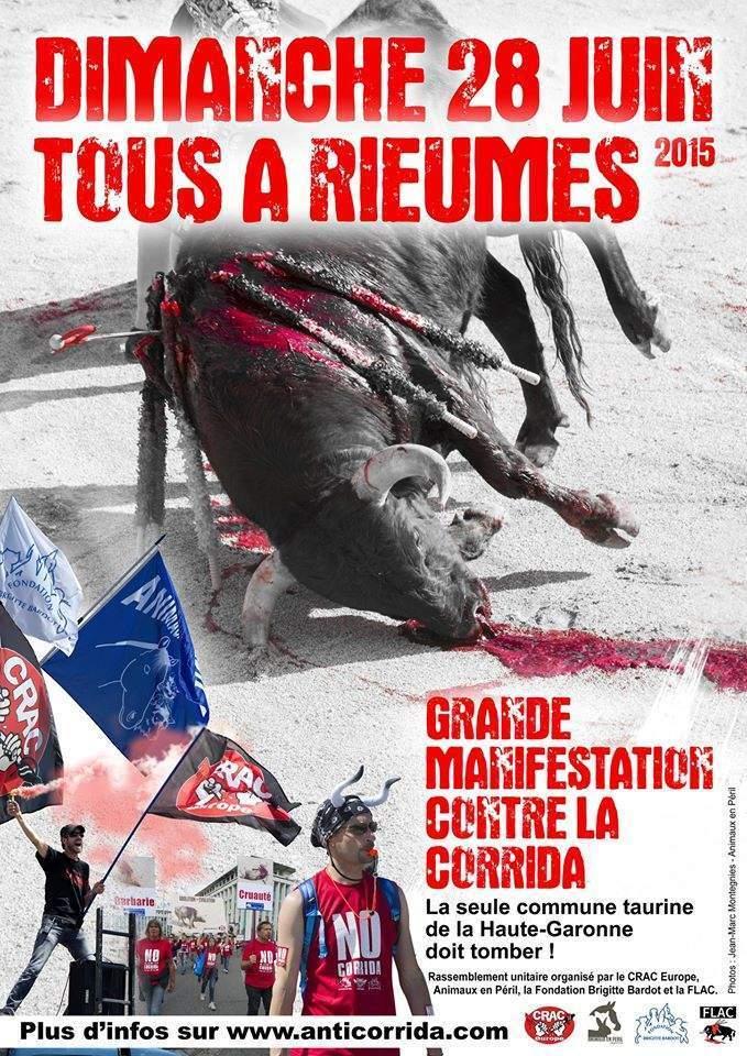 affiche contre la corrida