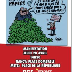 Manif à Nancy et à Metz