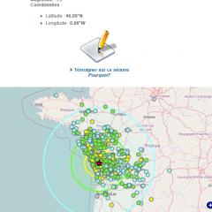 La terre a tremblé en Charente Maritime