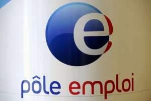 POLE EMPLOI - ANPE - ASSEDIC - CHOMAGE - CHOMEUR - TRAVAIL. Nancy 28 avril 2009. Logo du Pôle Emploi. PHOTO Alexandre MARCHI.