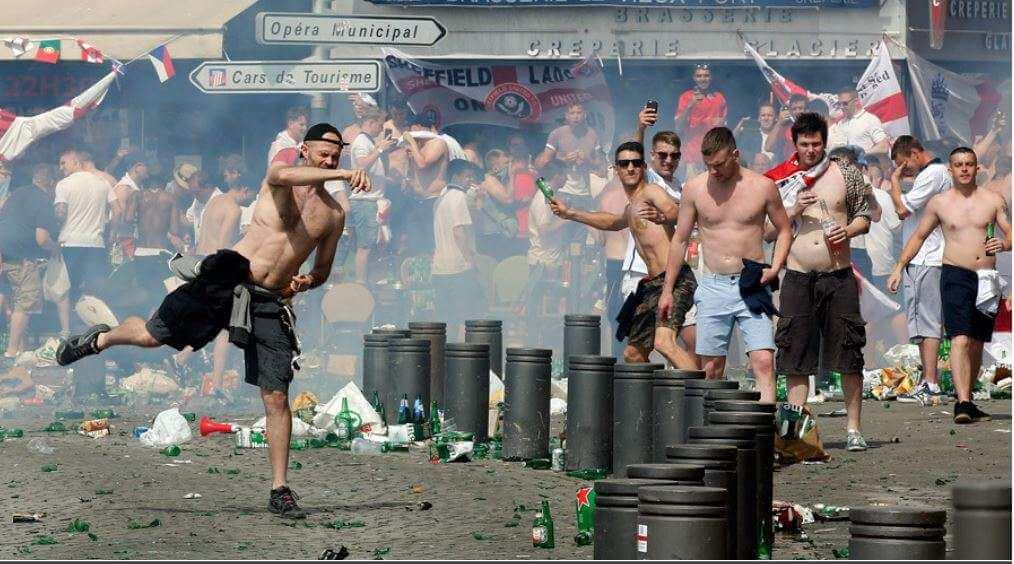 Marseille. Baston entre supporters russes et anglais