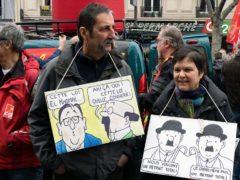 Manifestants contre la loi Travail, le 24 mars 2016, à Paris.