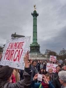 Manifestation contre le projet de loi El Khomri, le 9 avril 2016, à Paris.