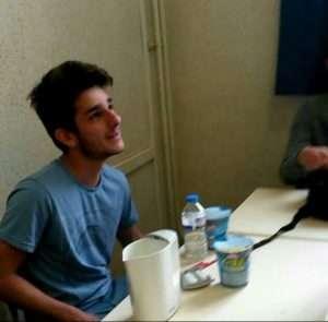 Nicolas Caromel, futur bachelier en cours d'anglais, au lycée Fabert à Metz.