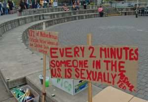 """Nuit d'action contre la """"culture du viol"""" Etats-Unis"""