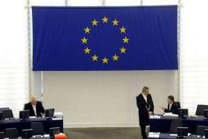 PARLEMENT EUROPEEN - INSTITUTION - EUROPE - COMMUNAUTE - ETATS - UNION EUROPEENNE. Strasbourg 23 avril 2009. Dans l'hémicycle du Parlement. PHOTO Alexandre MARCHI.