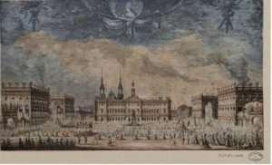 La place royale en 1789, devenue aujourd'hui la place Stanislas © Bibliothèques de Nancy