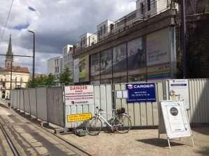 Le chantier de l'avenue du général Leclerc à Nancy