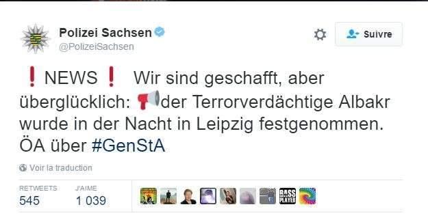 Allemagne : le terroriste présumé arrêté