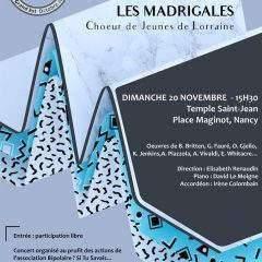 Nancy : Les Madrigales en concert