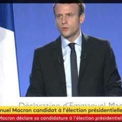 Macron en courant vers l'Elysée