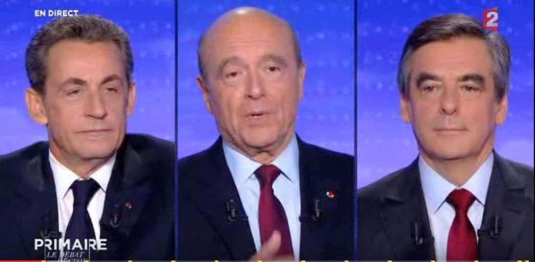 sarkozy-juppé-fillon-lors-du-dernier-débat-télévisé
