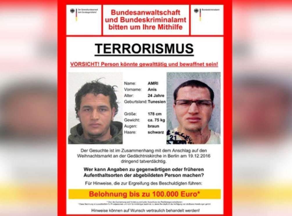 Anis Amri abattu par la police italienne