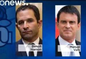 Manuel Valls, Benoît Hamon s'affrontent pour le second tour de la primaire