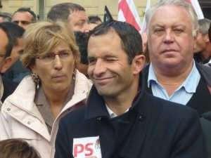 Benôit Hamon, candidat du parti socialiste à l'élection présidentielle