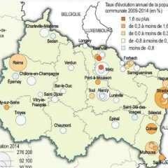 Grand Est : un tiers de la population vit dans 50 communes