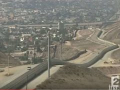 Un mur entre les Etats-Unis et le Mexique