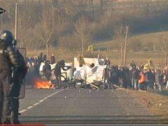 Manifestations des anti-nucléaires à Bure le samedi 18 février 2017 (capture itele)