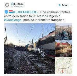 Accident de trains sur les réseaux sociaux