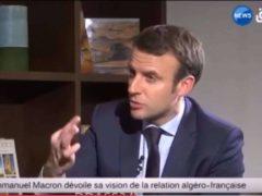 Emmanuel Macron, candidat à la présidentielle, en visite en Algérie