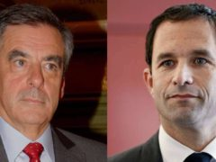 François Fillon et Benoît Hamon. Thomas Bresson/Wikimedia, CC BY