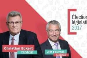 Christian Eckert, candidat aux législatives dans le Pays-Haut de Meurthe-et-Moselle sous les couleurs du PS