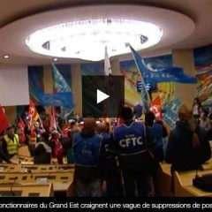 Des manifestants envahissent l'hémicycle de la Région à Metz