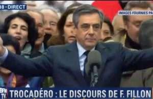 Rassemblement de François Fillon au Trocadero
