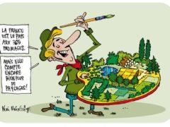 Agriculture et paysages (dessin de Rémi Malingrëy)