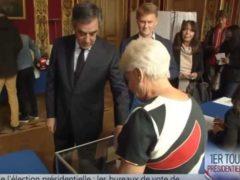 François Fillon vote à la présidentielle (capture BFMTV)