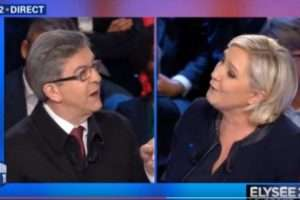 Le Pen contre Mélenchon (capture BFMTV)