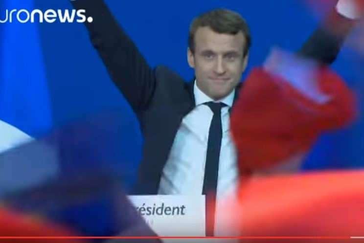 Macron, dimanche 23 avril au soir (capture EuroNews)