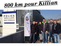 Huit policiers vont courir 800 km aux côtés du papa de Killian