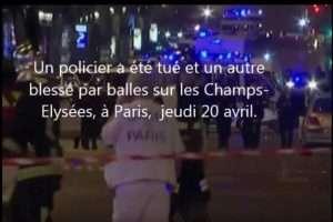 Fusillade sur les Champs-Elysées (capture france-info)