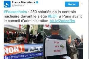 Les salariés de Fessenheim manifestent à Paris