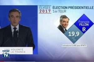François Fillon, le 23 avril 2017 (Capture BFMTV)