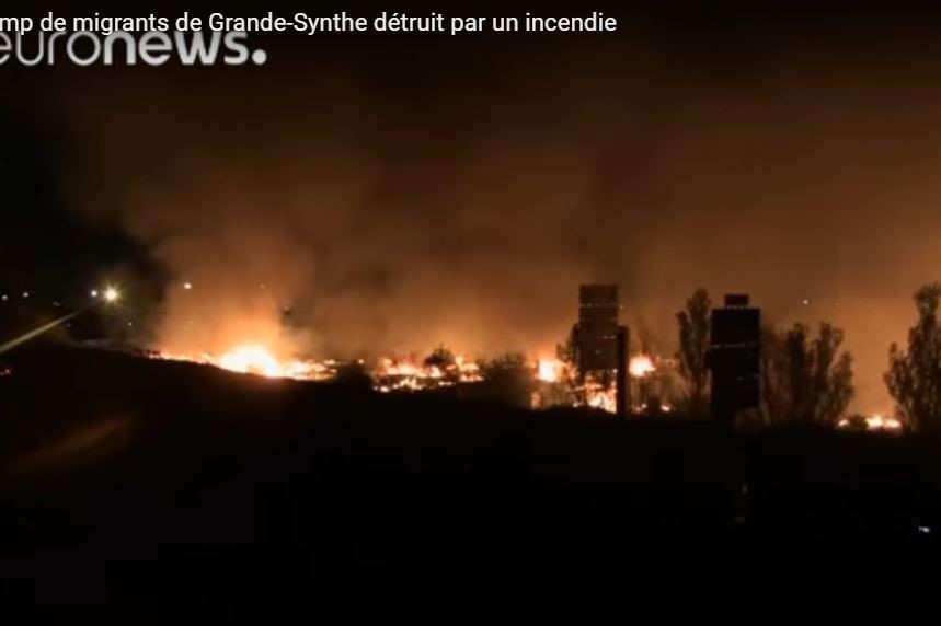 Le camp de migrants de Grande-Synthe détruit par un incendie
