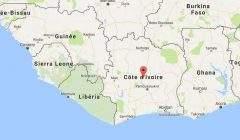 La Côte d'Ivoire sur la carte