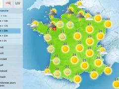 Fortes chaleurs dans l'Hexagone (Météo-France)