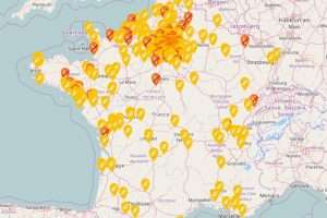 carte de la pénurie d'essence