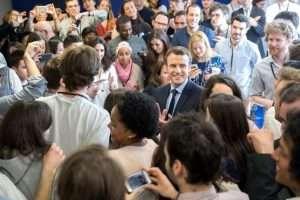 Emmanuel Macron. sur sa page FB