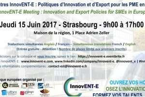 Rencontres InnvENT-E à Strasbourg le 15 juin 2017