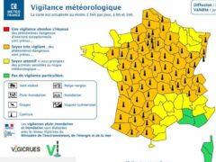 66 départements en vigilance orange