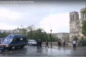 Attentat sur le parvis de Notre-Dame de Paris (capture Euro-News)