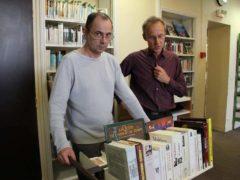 Bibliothécaires mobilisés pour les 30 ans de la de la médiathèque de Dourdan (Essonne), le 13 mai 2017. Ville de Dourdan-Flickr