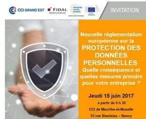 Protection des données personnes: information à la CCI 54