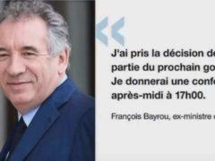 Démission de François Bayrou