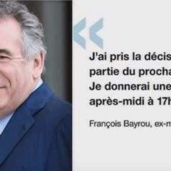 Bayrou et de Sarnez quittent le gouvernement !