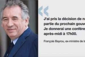 Démission de Bayrou