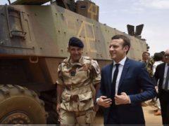 Emmanuel Macron au Mali (capture updates news)